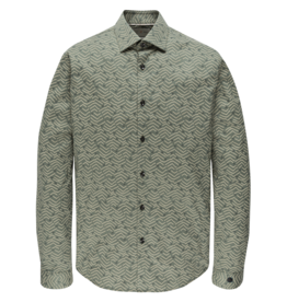 Cast Iron CSI207632 6127 Cast Iron long sleeve shirt print on stretch poplin Green
