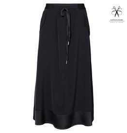Summum 6s1186-11304 990 Summum Skirt crepe viscose blend Black