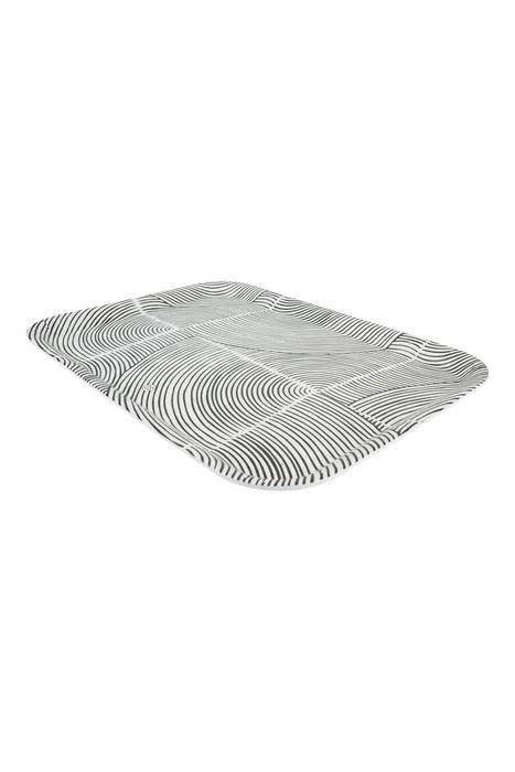 Zusss 0707-004-0500 Zusss melamine dienblad grafisch patroon 43x32cm zand