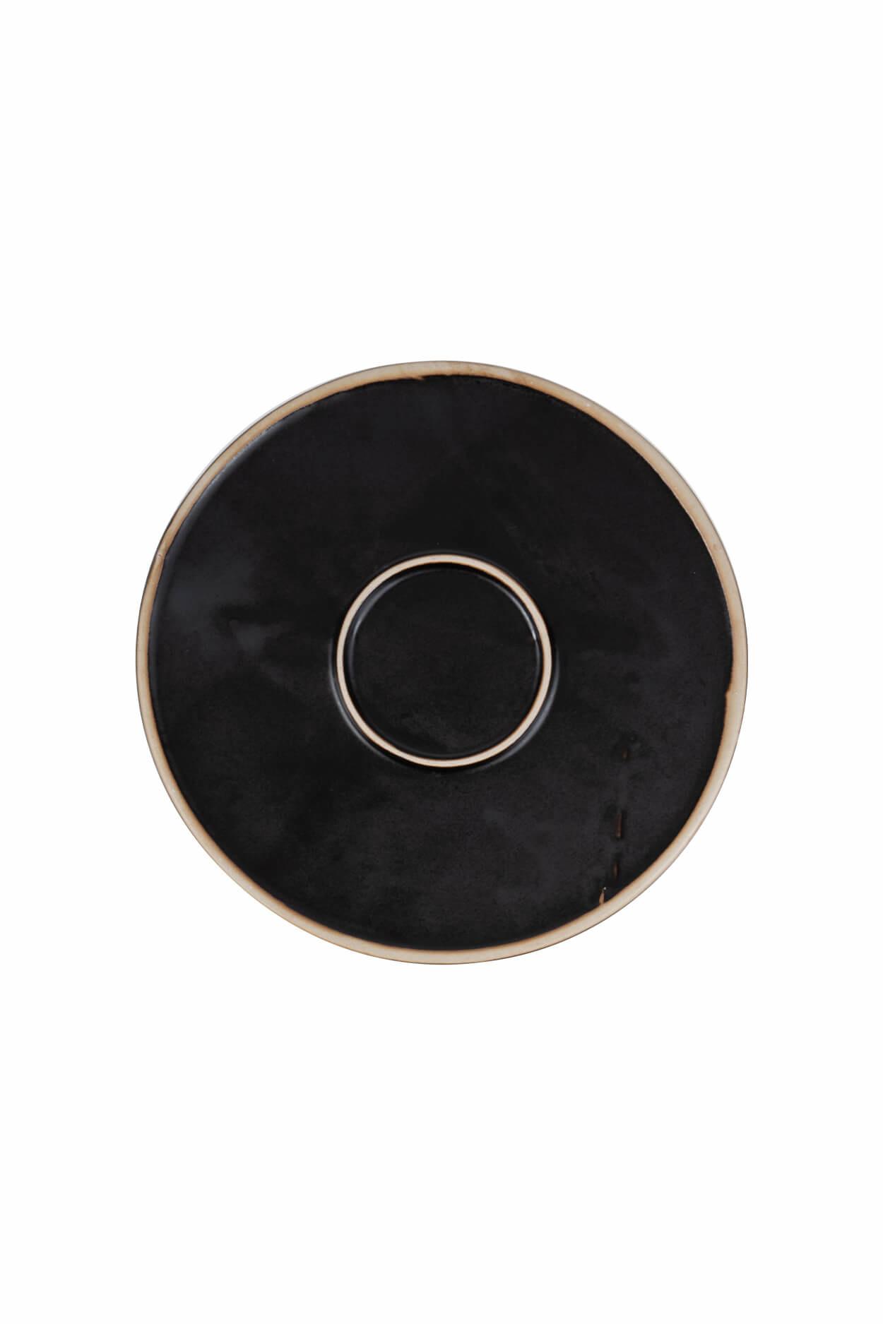 Zusss 0701-001-0000 Zusss ontbijtbord aardewerk zwart