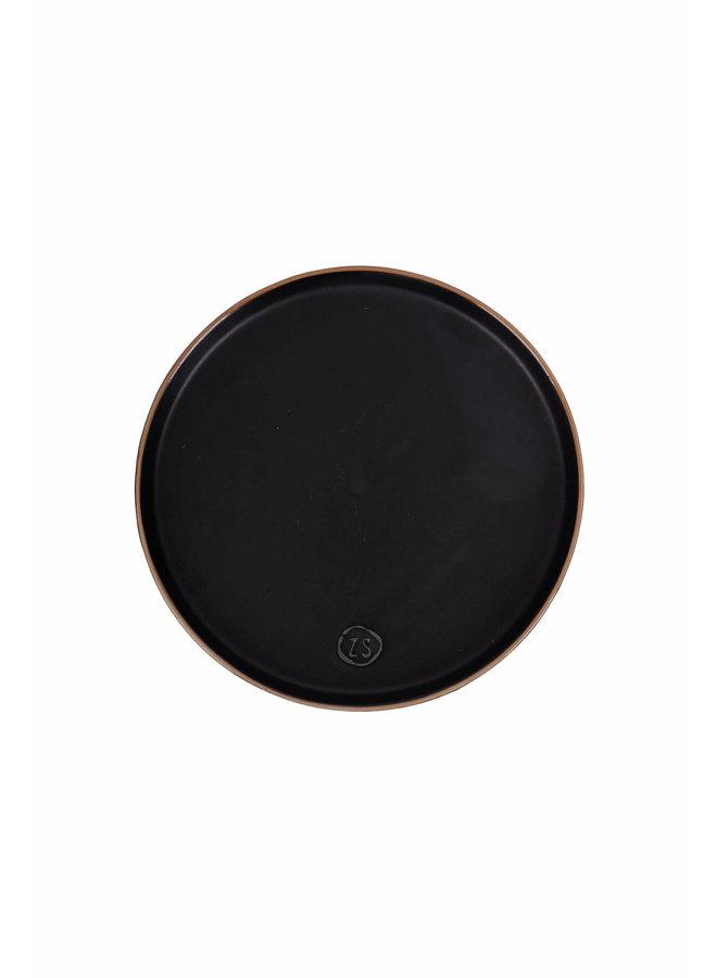 0701-001-0000 Zusss ontbijtbord aardewerk zwart
