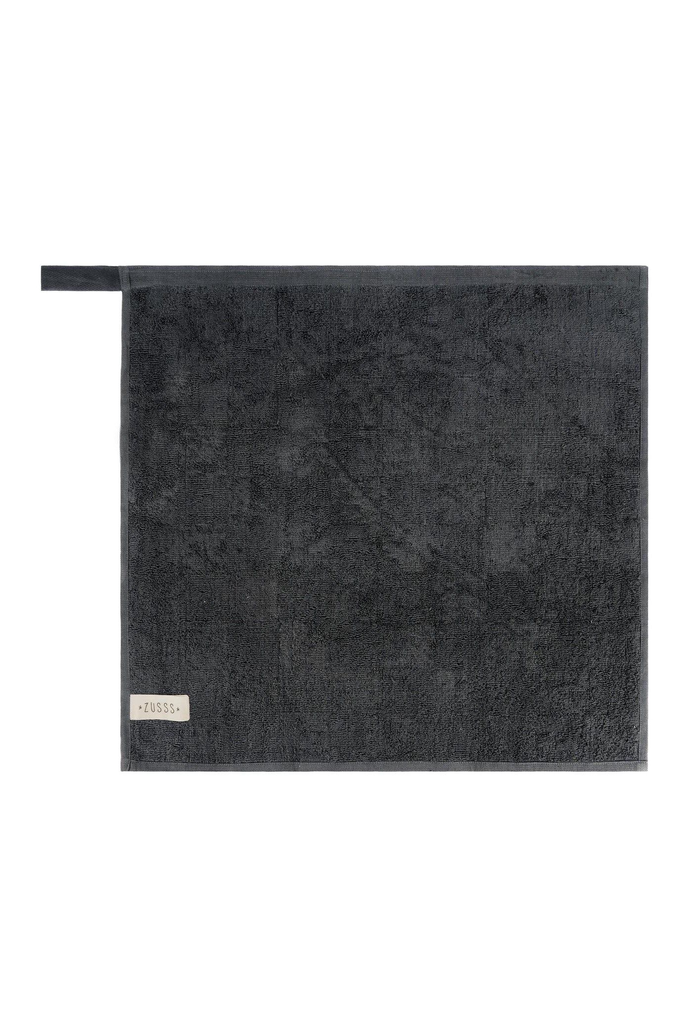 Zusss 0710-029-4500 Zusss handdoek geblokt antracietgrijs
