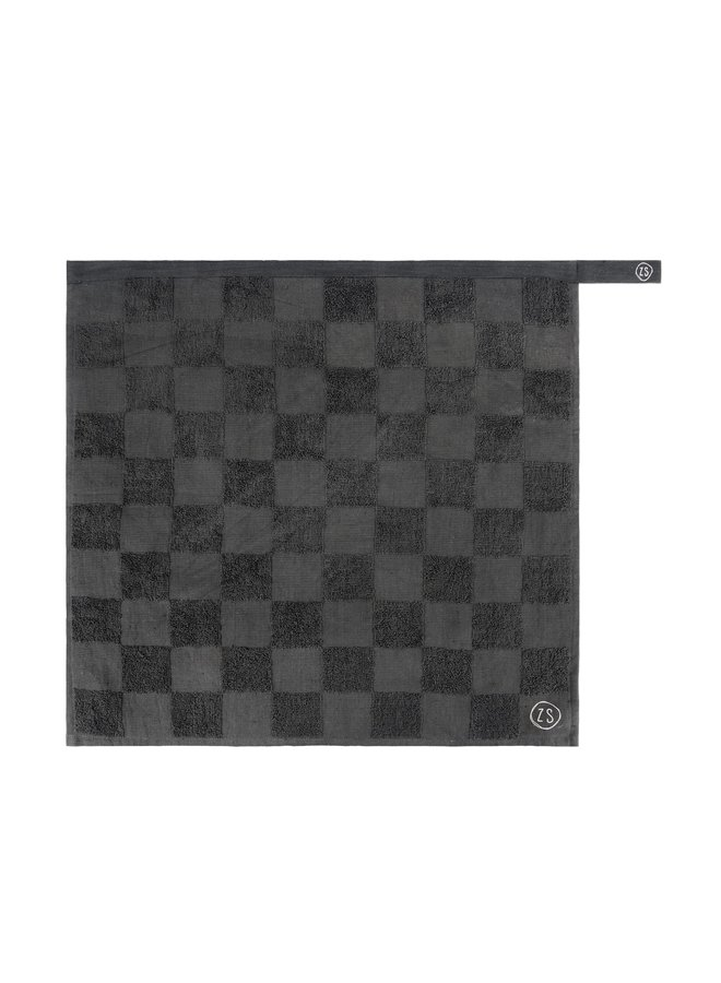 0710-029-4500 Zusss handdoek geblokt antracietgrijs