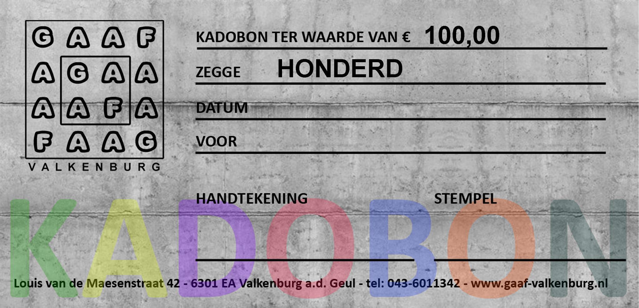 GAAF Kadobon 100 euro