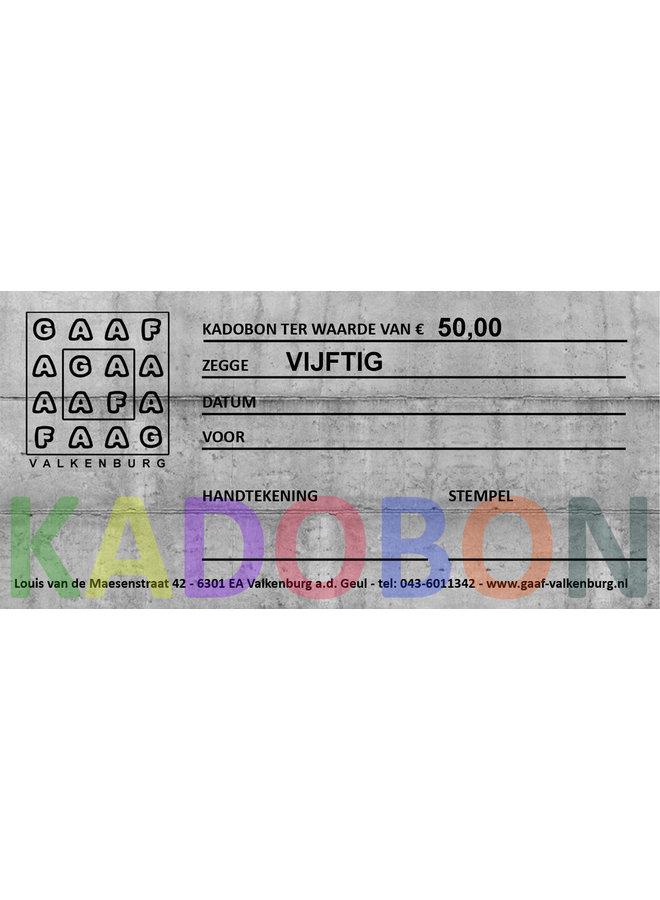 GAAF Kadobon 50 euro