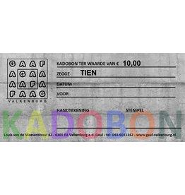 GAAF Kadobon 10 euro