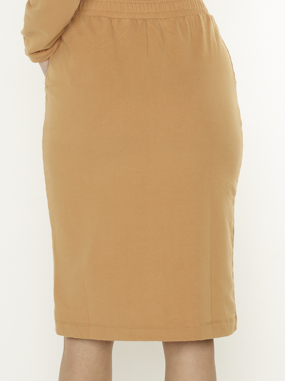 Penn & Ink S21F873 604 Penn en Ink NY sweat Rok cinnamon