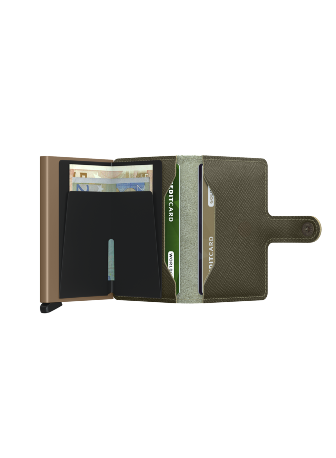 MSa Secrid Miniwallet Saffiano Olive