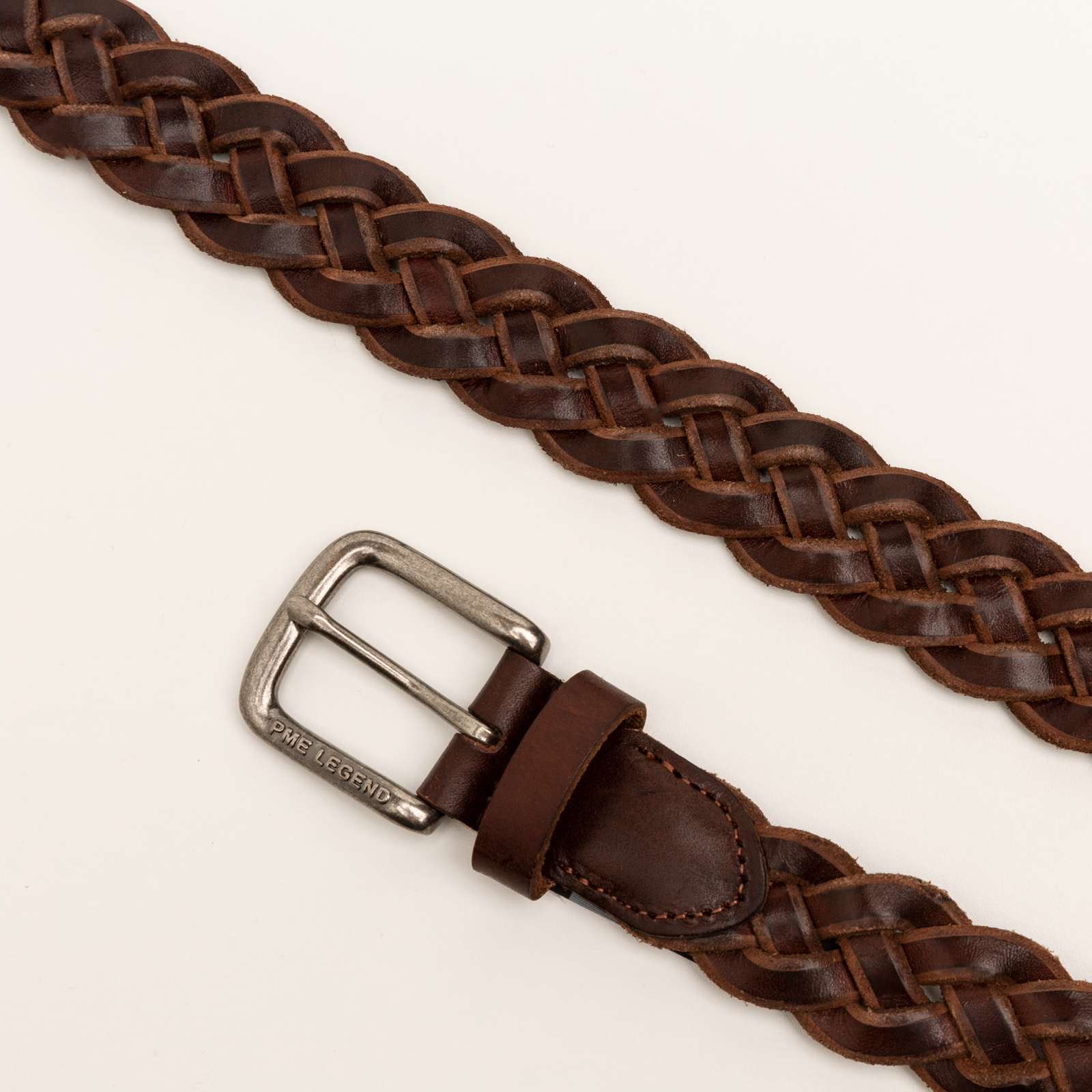 PME Legend PBE211203 771 PME Legend Belt Italian leather braided belt Brown