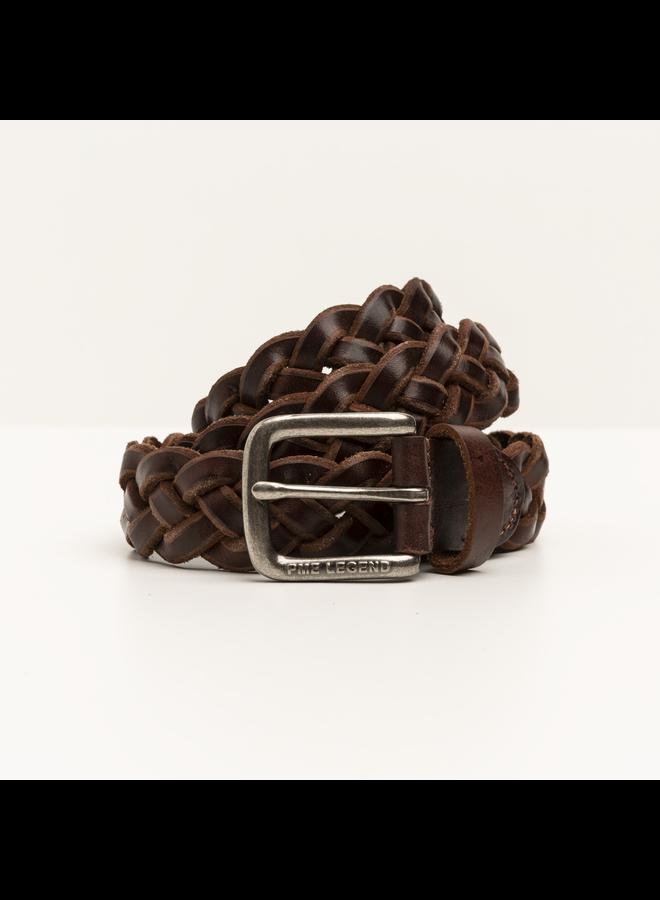PBE211203 771 PME Legend Belt Italian leather braided belt Brown