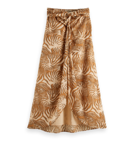 Scotch & Soda 161938 0217 Scotch & Soda Organic cotton printed skirt with knot detail Combo A Multicolor
