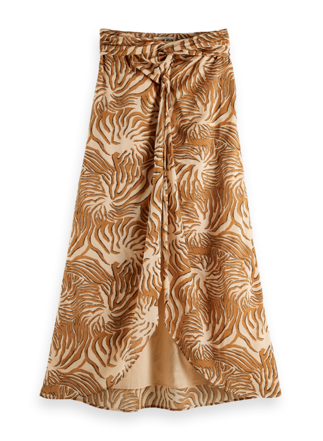 161938 0217 Scotch & Soda Organic cotton printed skirt with knot detail Combo A Multicolor