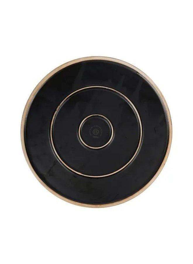 0701-019-0000: Zusss dinerbord aardewerk zwart