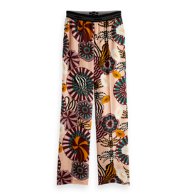 Scotch & Soda 161931 0217 Scotch & Soda Wide leg pant with special elastic waistband Combo A Multicolor