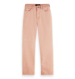 Scotch & Soda 162549 4489 Scotch & Soda High Rise Tailored Straight Leg - Pastel Dyes Pastel Pink