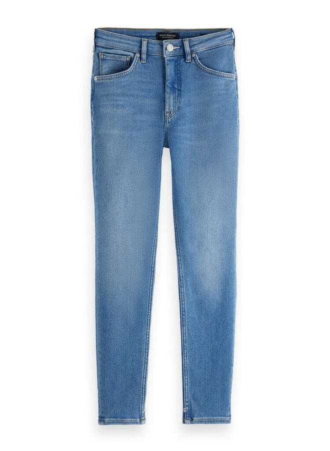 163898 4384 Scotch & Soda Haut high-rise skinny contains recycled Cotton —Blue Glory