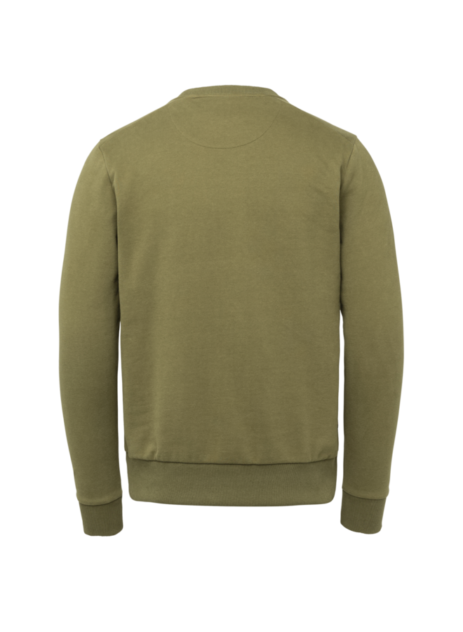 PSW215414 6381 PME Legend Long sleeve r-neck brushed sweat Green