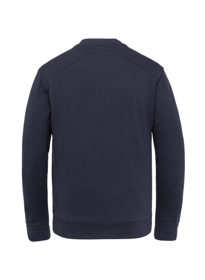 CSW215400 5073 Cast Iron R-neck relaxed fit essential sweat Blue