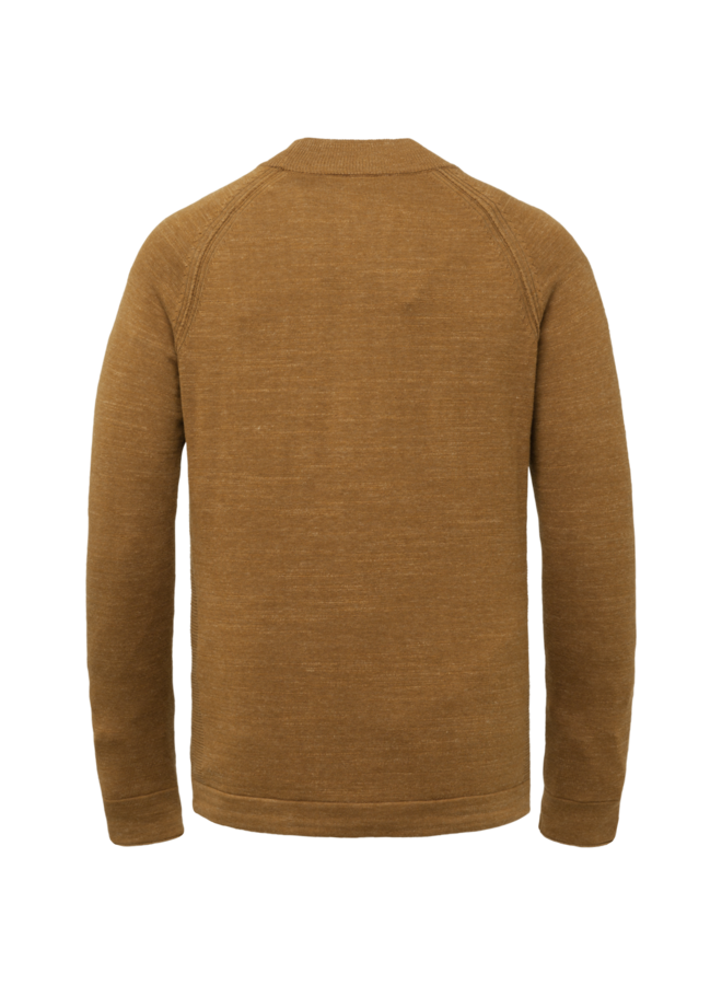 CKW215301 8197 Cast Iron Mock neck cotton heather plated Brown