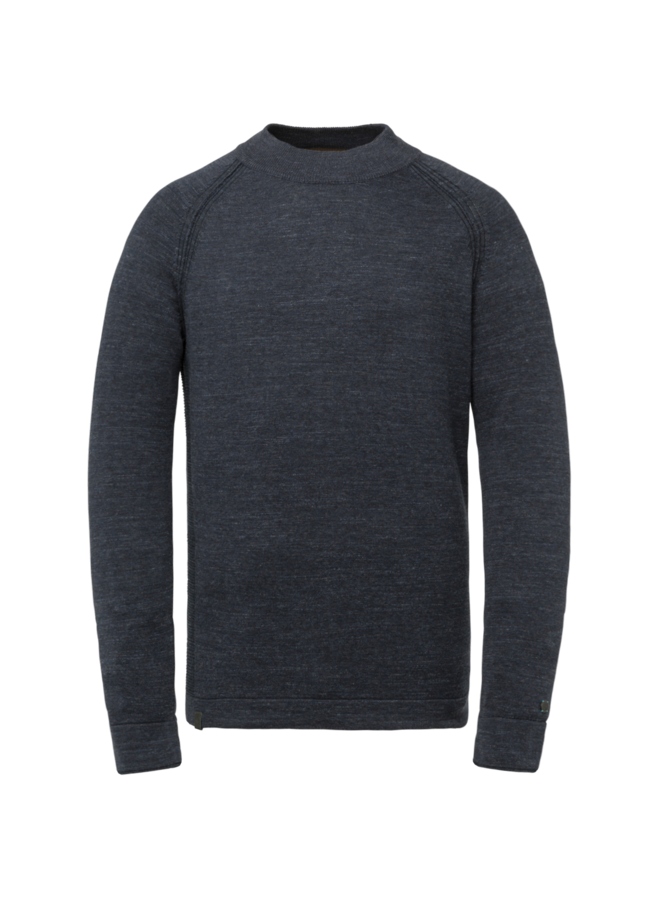 CKW215301 5073 Cast Iron Mock neck cotton heather plated Blue
