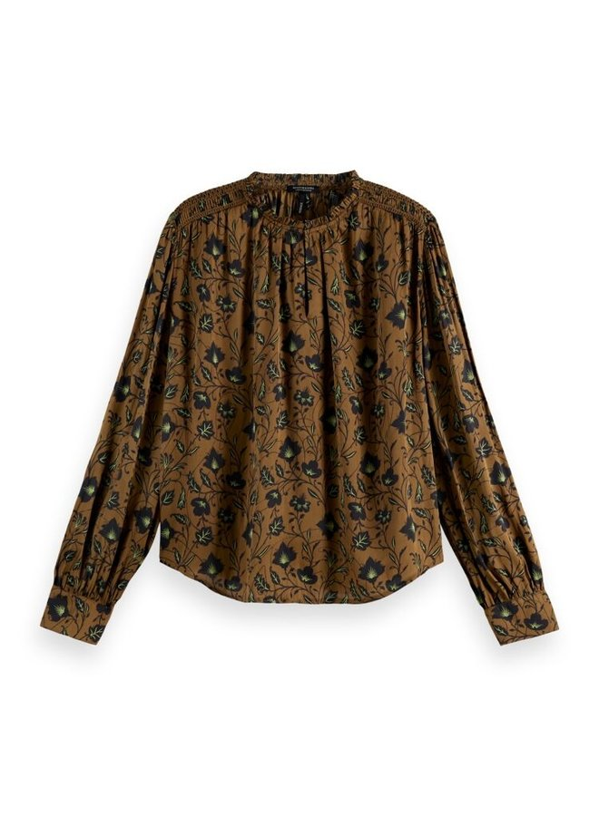 163807 0221 Scotch & Soda Top with smocking details Combo E