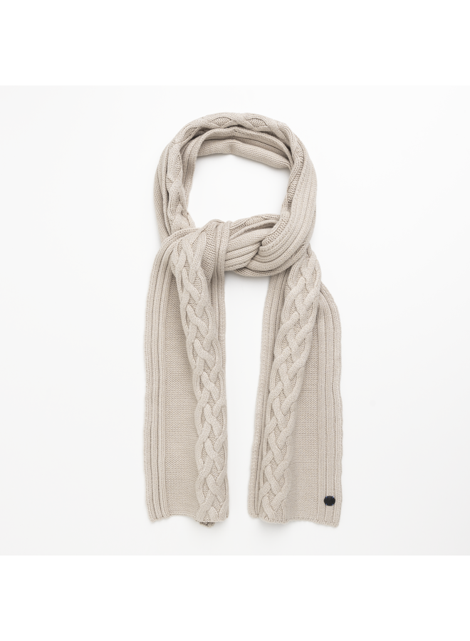 CAC216101 7074 Cast Iron Scarf Knitted scarf Beige