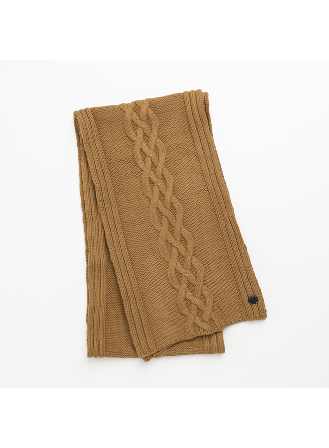 CAC216101 8197 Cast Iron Scarf Knitted scarf Brown