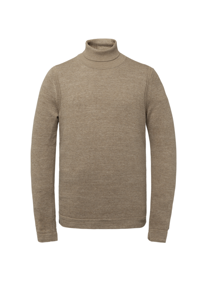 CKW216322 8092 Cast Iron Roll neck cotton heather plated Brown