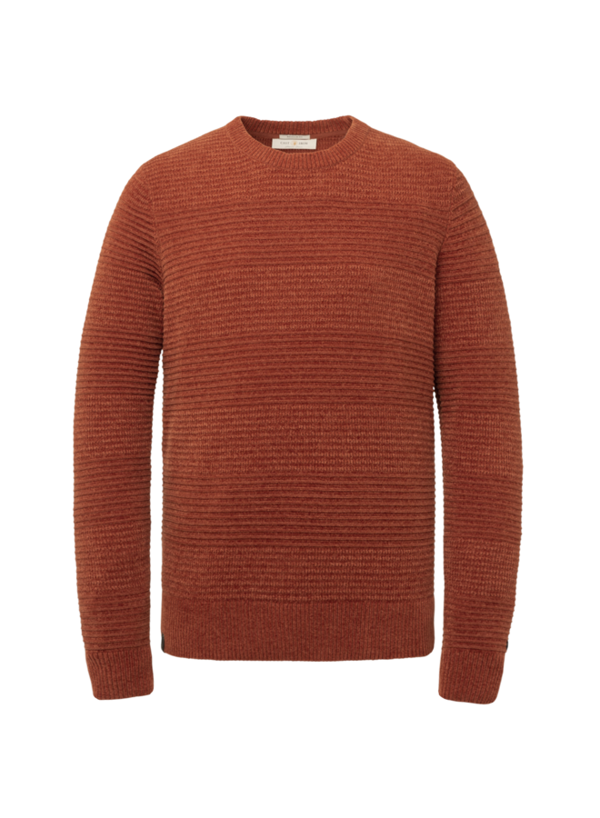 CKW216324 3051 Cast Iron R-neck relaxed fit chenille cotton plated Red