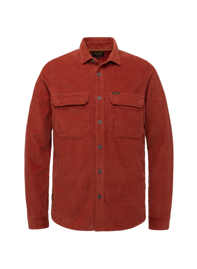 PSI216213 3048 PME Legend Long Sleeve Shirt Ribcord fabric Red