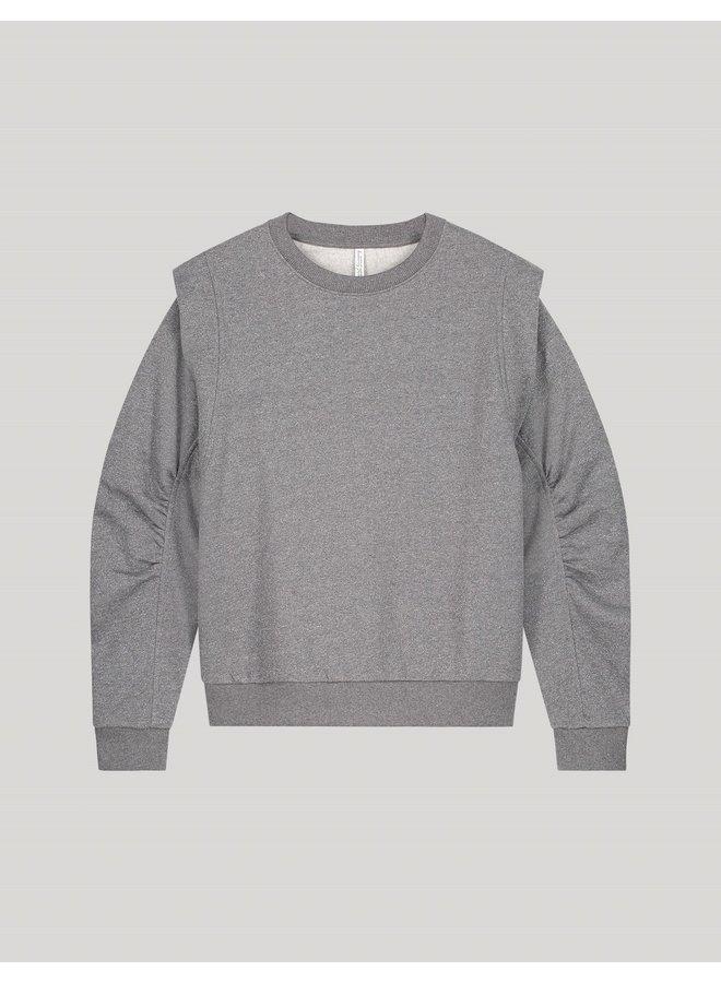3s4616-30298 815 Summum Sweater sparkling sweat Light grey melange
