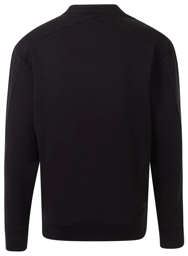 CSW216401 999 Cast Iron R-neck relaxed fit essential sweat Black