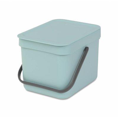 Brabantia Sort&Go afvalemmer - 6 liter - mint