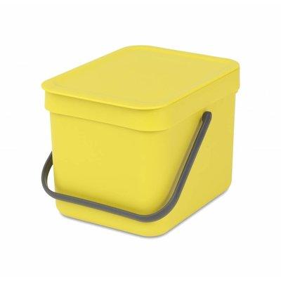 Brabantia Sort&Go afvalemmer - 6 liter - geel