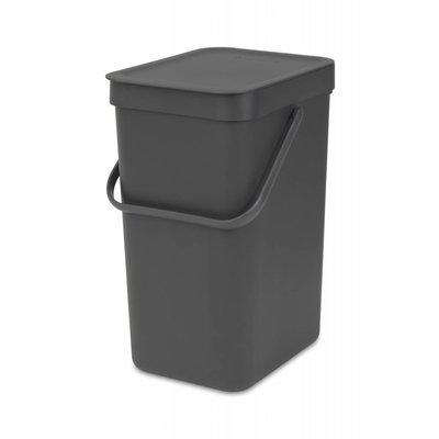 Brabantia Sort&Go afvalemmer - 12 liter - grijs