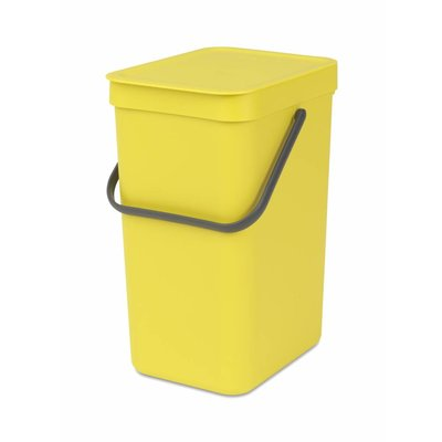 Brabantia Sort&Go afvalemmer - 12 liter - geel