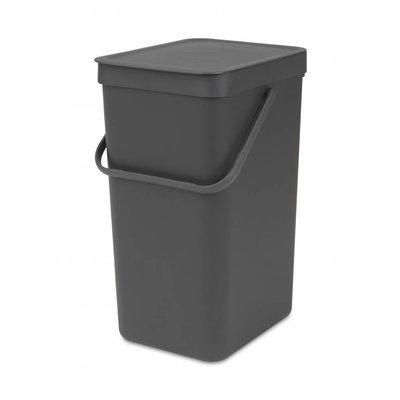 Brabantia Sort&Go afvalemmer - 16 liter - grijs