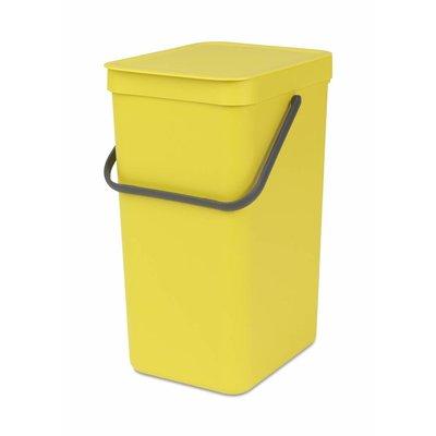 Brabantia Sort&Go afvalemmer - 16 liter - geel