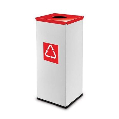 Easybin Eco flex square - 45 liter - red
