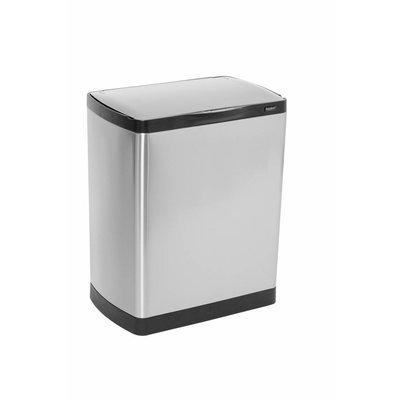 Easybin Afvalbak silver flatline 25 sensor - rvs mat