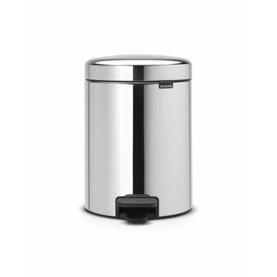 Brabantia Newicon pedaalemmer - 5 liter - matt steel