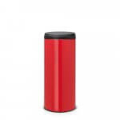 Brabantia Flipbin -  30 liter - passion red/dark grey deksel