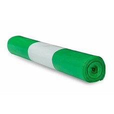 De Bries Afvalzak 58x100cm - 1 rol - 70 liter - groen - T23