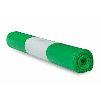 De Bries Afvalzak 58x100cm 1 rol - 70 liter - groen - T23