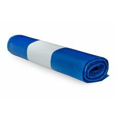De Bries Afvalzak 58x100cm 1 rol - 70 liter - blauw - T23