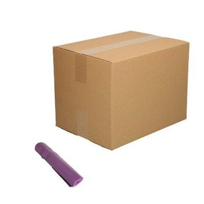 Afvalzak 70x110cm - 1 doos - 110 liter - paars