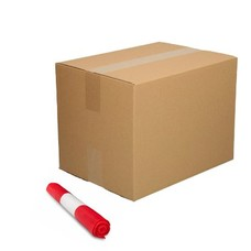De Bries Afvalzak 58x100cm - 70 liter - doos - rood - T23