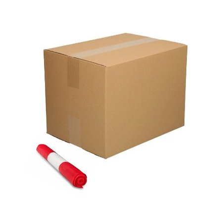 De Bries Afvalzak 58x100cm - 70 liter - rood - T23