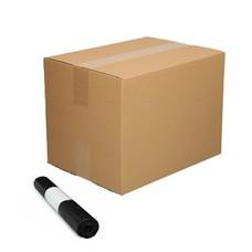 De Bries Afvalzak 58x100cm - 70 liter - doos - zwart - T23