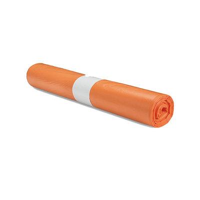 Afvalzak 70x110cm - 1 rol - oranje